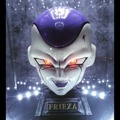 Download 3D printer designs  frieza Mask - Frieza Head - Dragon ball cosplay/Decor, Bstar3Dart