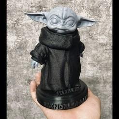 Download 3D printer templates Yoda Baby - Mandalorian Star wars - High quality, Bstar3Dart