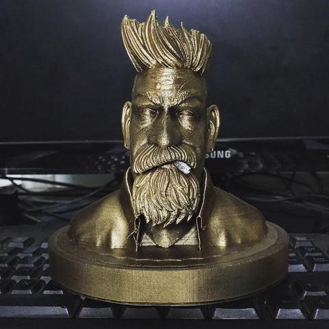 Download 3D printer files Zombie Hunter Bust , Bstar3Dart