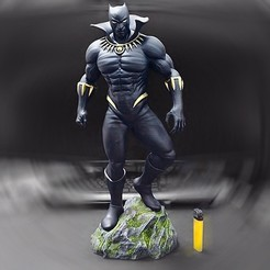 Download 3D printing designs Black Panther Marvel Comic Fan Art, Bstar3Dart