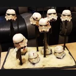 Download 3D printing templates Storm trooper 2019 - The first scene from Star war - The Mandalorian 2019, Bstar3Dart
