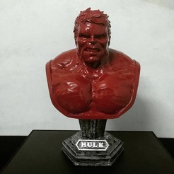 Download STL file Hulk Angry Bust - Infinity War - from Marvel • 3D printable design, Bstar3Dart