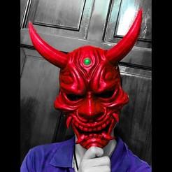 Descargar modelos 3D para imprimir Hannya Mask -Satan Mask - Demon Mask para cosplay, Bstar3Dart