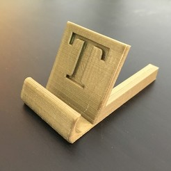 3D printer file Personalised iPhone stand, christopheay
