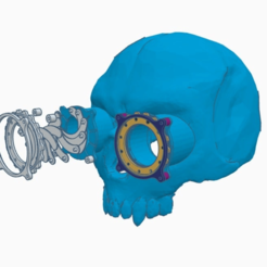 Download free 3D printing models Steampunk Skull helmet V2, cube606592
