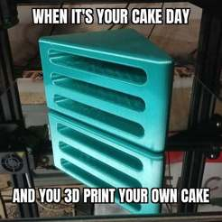 Download free STL file Cake Day • 3D print template, cube606592