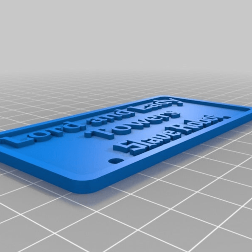 Download free 3D printing files Lord and Lady Towers Slave robot sign, cube606592