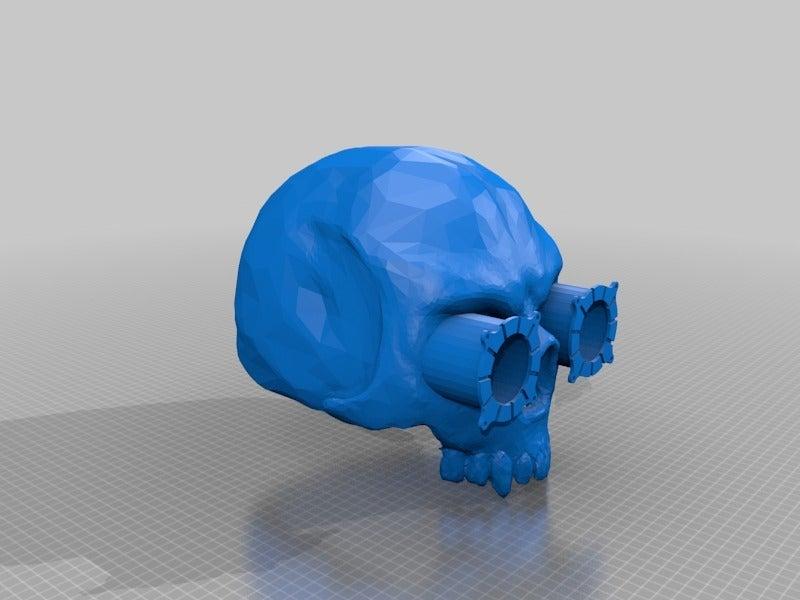 578efe81d7db2af9e66805a364a67e87.png Download free STL file Steampunk Skull helmet V2 • 3D printer design, cube606592
