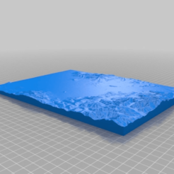 Download free STL file topography of Medford OR • 3D printer object, cube606592