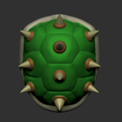 Download STL file Bowsette Shell • 3D printer model, cube606592
