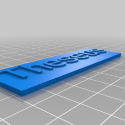 Download free 3D print files My Customized Name Plaque, cube606592
