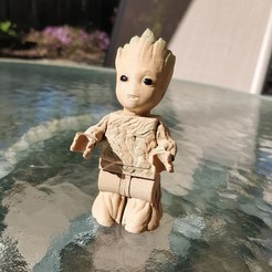 Free 3D printer model Lego Baby Groot 2X, johnmcwgeo