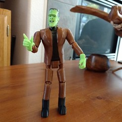 Free 3D printer files Herman Munster Poseable, johnmcwgeo