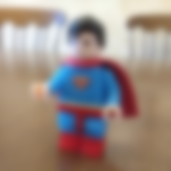 Free Lego Superman 2X 3D printer file, johnmcwgeo