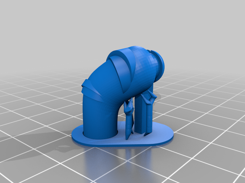 TinMan__arm_R_supports.png Download free STL file OZ - Tin Man - 2X • 3D print model, johnmcwgeo