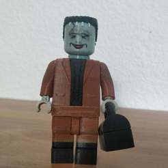 Download free 3D printer designs Lego Munsters Herman 2X, johnmcwgeo