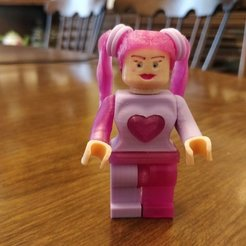 Free 3D printer files Lego Sophie Quinn 2X, johnmcwgeo