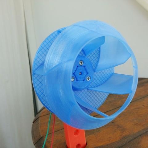 02.jpg Download free STL file Radial Fan Impeller / Radialventilator Laufrad - 125RL-6X • 3D printable template, CONSTRUCTeR