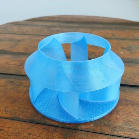 04.jpg Download free STL file Radial Fan Impeller / Radialventilator Laufrad - 125RL-6X • 3D printable template, CONSTRUCTeR