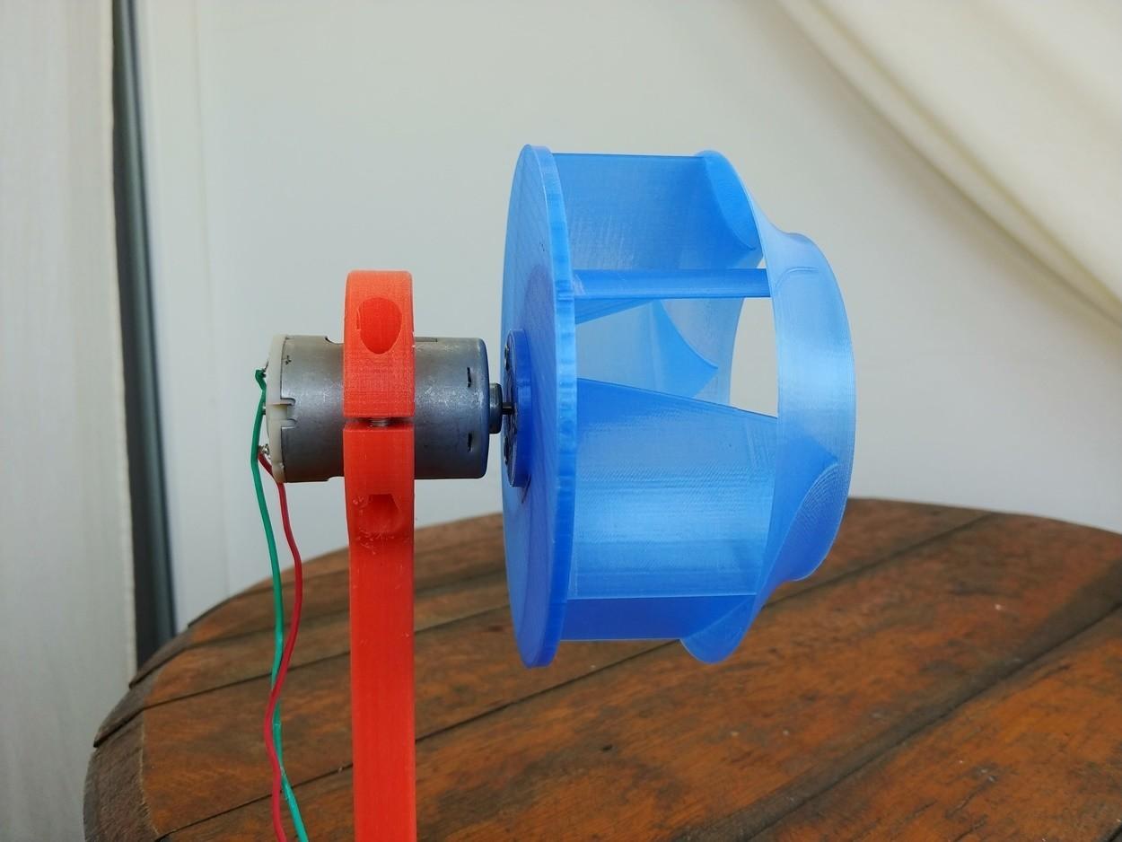 03.jpg Download free STL file Radial Fan Impeller / Radialventilator Laufrad - 125RL-6X • 3D printable template, CONSTRUCTeR