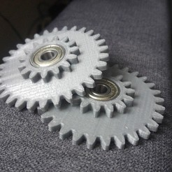 Download free 3D printer templates Gearset 1:2 ratio / Zahnradsatz 1:2 Übersetzung, CONSTRUCTeR