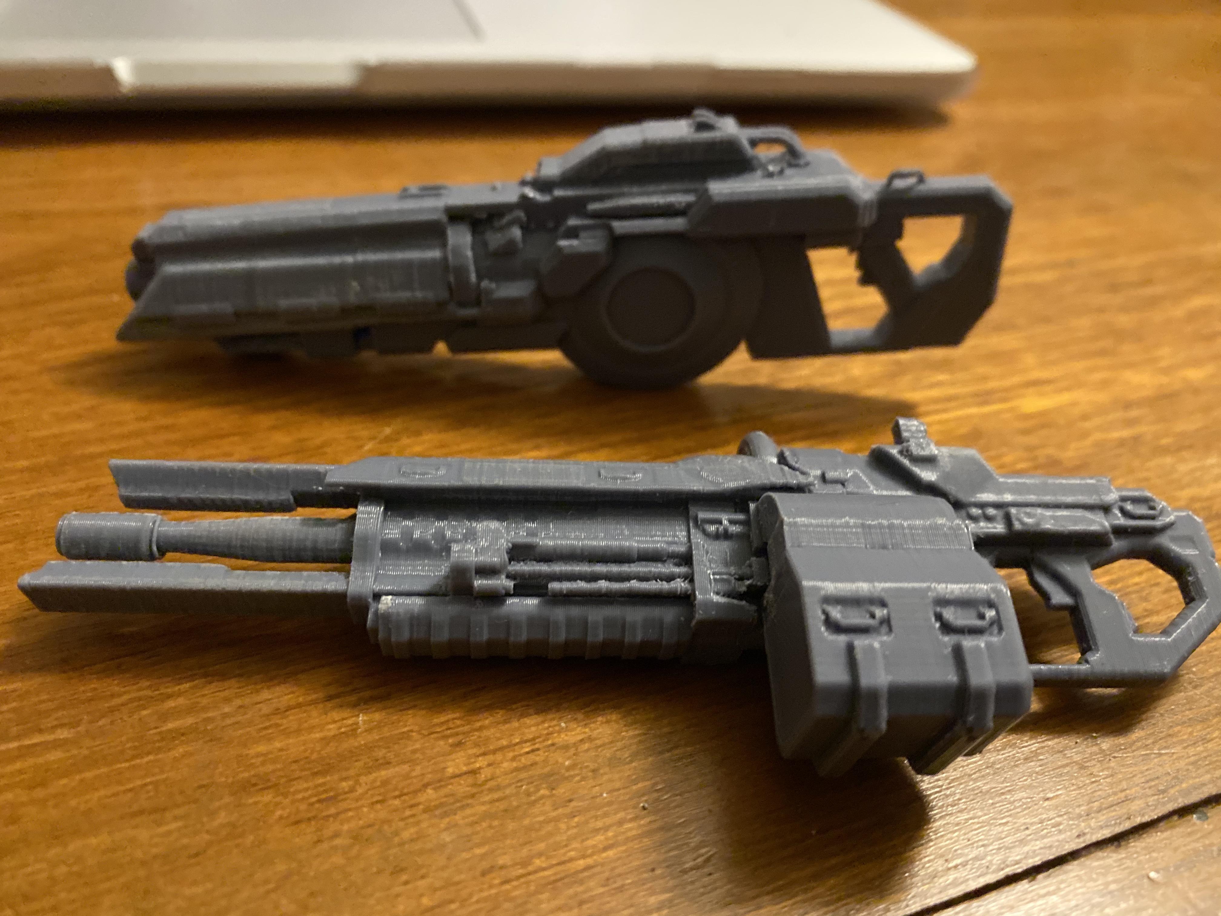 IMG_4248.jpg Télécharger fichier OBJ gratuit Le fusil de précision TitanFall 2 et le canon traqueur de 40 mm • Plan imprimable en 3D, MaxWillson