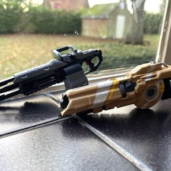 IMG_7593.JPG Download free OBJ file TitanFall 2 Splitter Rifle and the 40mm Tracker Cannon • 3D printer model, MaxWillson