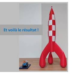 Download free 3D printer designs Tintin Rocket (Tintin Rocket), patricksouty