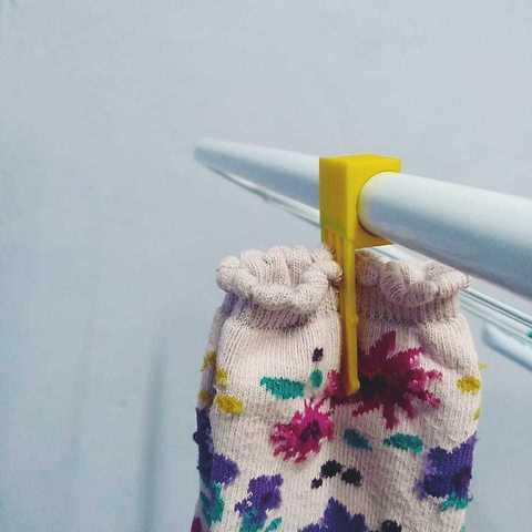 Cuelga01.jpeg Télécharger fichier STL gratuit Chaussettes Holder • Plan imprimable en 3D, Blop3D