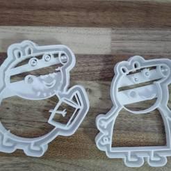 3d printer model papa pig mama pig cut, blop3d