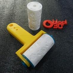 DSCN6041.JPG Télécharger fichier STL PAQUET DE 5 ROULEAUX PERSONNALISÉS ET POIGNÉE + CADEAU • Design pour imprimante 3D, Blop3D