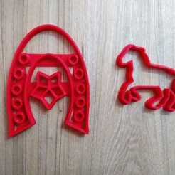 Descargar modelos 3D para imprimir cutter cookie horse caballo herradura, blop3d