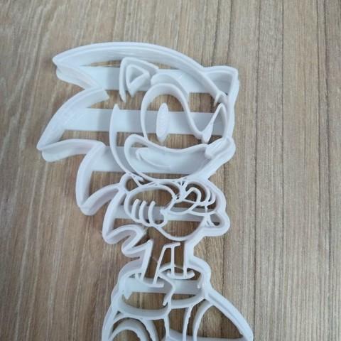 Télécharger fichier 3D Biscuit sonique coupé, blop3d