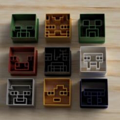 pack 9 cutter cookie minecarft.png Télécharger fichier STL MINECRAFT 9 PAQUETS DE BISCUITS À LA COUPE • Modèle pour impression 3D, Blop3D