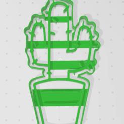Fichier imprimante 3D CACTUS BISCUIT COUPÉ, blop3d
