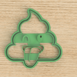 cuttpoop.png Download STL file POOP CUTTER COOKIE POOP CUTTER • 3D printable design, Blop3D