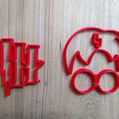 Descargar modelo 3D cutter cookie harrie Harry Potter , blop3d