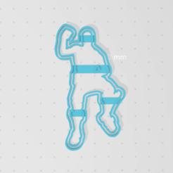 Imprimir en 3D Fortnite Ride The Pony Dance CUTTER COOKIE, blop3d