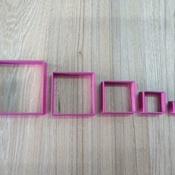 3d printer files Cut cookie cuadrados, blop3d
