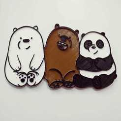 WhatsApp Image 2020-07-27 at 22.40.52.jpeg Download STL file MAGNET WE BARE BEARS • 3D printable model, Blop3D
