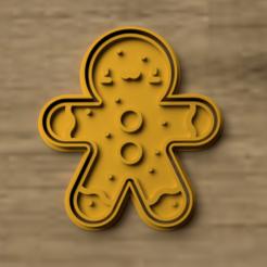 kawai gingibre.png Download STL file CUTTER COOKIE KAWAI GINGIBRE • 3D printing object, Blop3D