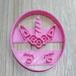 stl cut cutter unicorn, blop3d