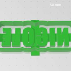 Télécharger fichier impression 3D EMPORTE-PIÈCE NICOLE, blop3d