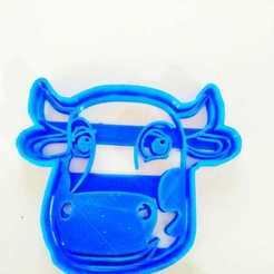 Descargar modelos 3D cortantes de galletitas con formas de La Granja de Zenón vaca, Blop3D