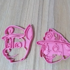 3d model cut cookie paw patrol, blop3d