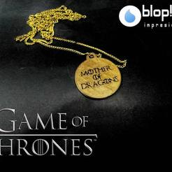 Download free 3D printer model NECKLACE GAME OF THRONES, Blop3D