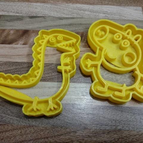 35389248_1937272172971279_5617091120291905536_n.jpg Download STL file George Pig CUT Dinosaurs • 3D printable template, Blop3D