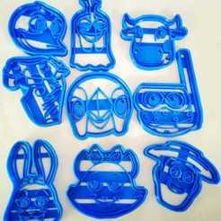 Descargar diseños 3D Pack 9 Cortantes La Granja De Zenón, Blop3D