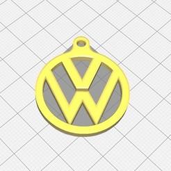 Download 3D printing designs Volkswagen (VW) Badge Keyring, tailskeeble