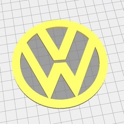 3D printing model Volkswagen (VW) Badge Coaster, tailskeeble
